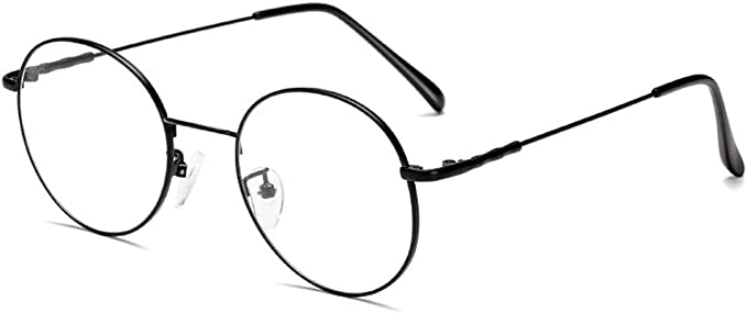 Amazon.com: Blue Light Blocking Glasses Anti Blue Light Glasses The Best Choice to Protect Your Eyes Glasses Retro Fashion Unisex Ultralight Metal Frame (Black): Computers & Accessories