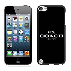 Genuine Coach logo 1 Black Ipod Touch 5 Screen Cellphone Case Sweet and Lovely Design