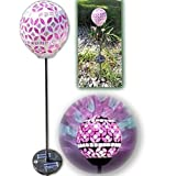 Vzost® - Gorgeous Rosy Pink Solar Mosaic Light with Color Changing Glass Ball (x 1)