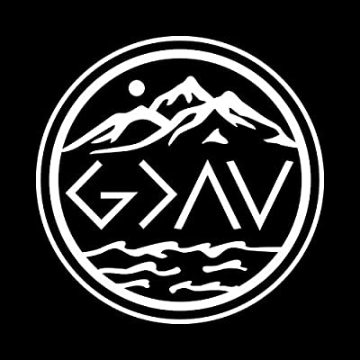 God is Greater Than The Highs and The Lows NOK Decal Vinyl Sticker |Cars Trucks Vans Walls Laptop|White|5.5 x 5.5 in|NOK859: Kitchen & Dining
