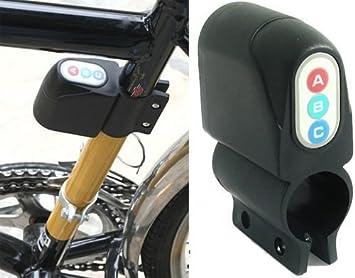 Antirrobo con Sensor de movimiento y alarma sonora 80 Decibel para bicicleta de aplicar al tubo