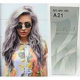 eggplant hair dye - Pack of 1 Box Berina Light Gray Hair Dye A21 Hair Color Cream Dye Light Grey 60 G. Super Permanent Fashion Unisex