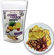 Snack COMBO DE SABOR 50g (6 piezas): Mezcla de mango, piña, manzana y fresa deshidratados. Sin azúcar añadida