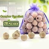 Bargain World 20pcs canfora parassiti repellente contro insetto falena cedro palle granulari armadi