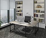 Modern Computer Desk L Shaped Corner Desk Home Office Desks,More Stable Structure,Design by Ulikit (Grey Grain)