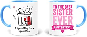 Happy Birthday to the best Sister Rim Color Mug