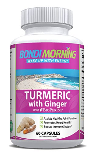 - Turmeric Curcumin with Ginger & Bioperine - High Potency Anti-Inflammatory for Maximum Pain Relief and Joint Support, Non GMO Nutritional Supplement. 60 Capsules.