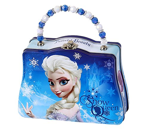 Disney Frozen Scoop Carry All Tin Classic Purse with Beaded Handle, Elsa
