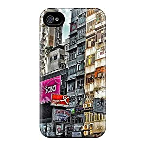 Case888cover Scratch-free Phone Cases For Iphone 6- Retail Packaging - Urban Scene In Hong Kong Hdr
