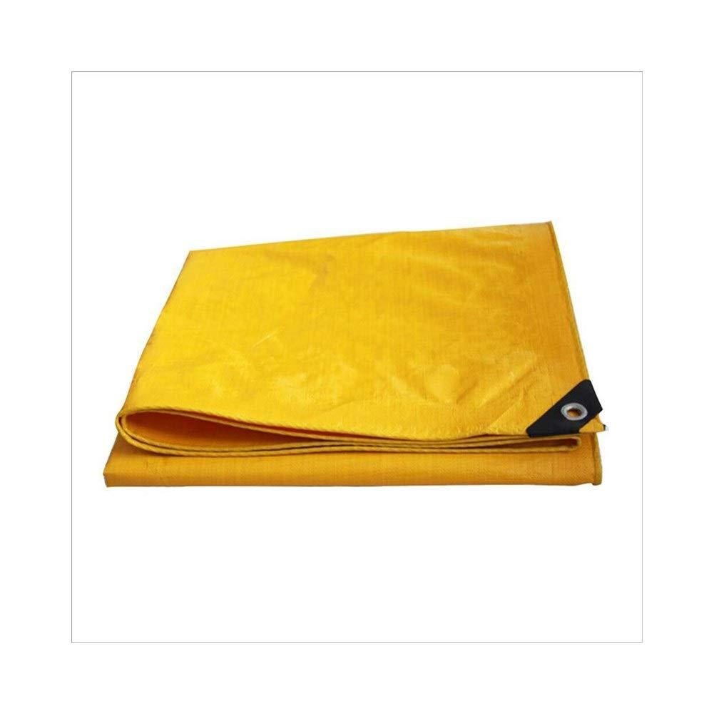 Jaune 4 x 6m BÂche imperméable rembourrée BÂche imperméable à l'eau, bÂche de prougeection solaire anti-pluie jaune, camion abritant l'ombre extérieure de tissu antipoussière et coupe-vent BÂ