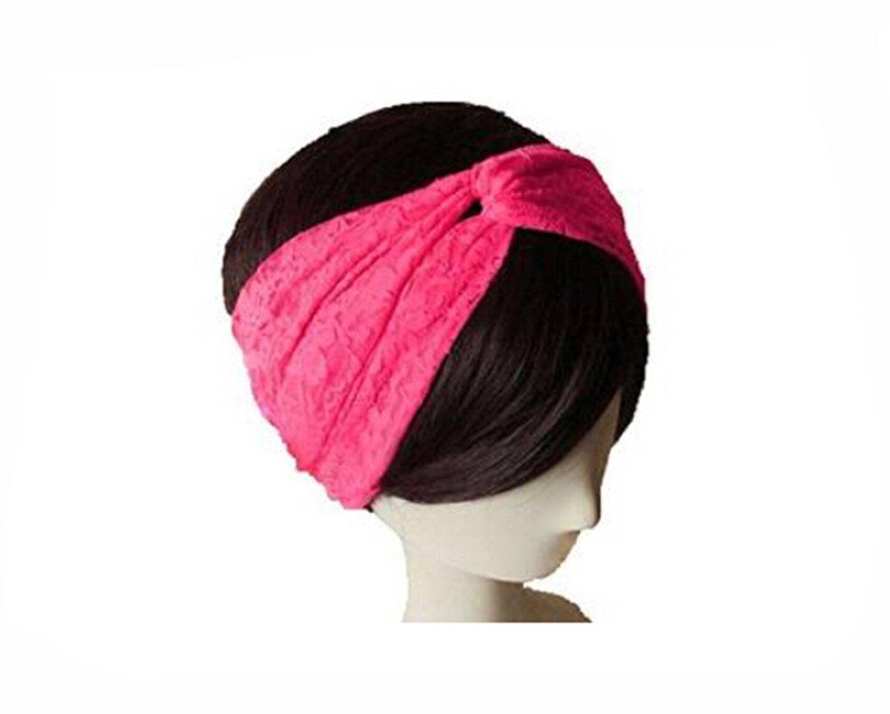 Butterme Femmes Dentelle Noué doux bandeau cheveux rétro Turban Twist Headband ZUMUii ZT00167P