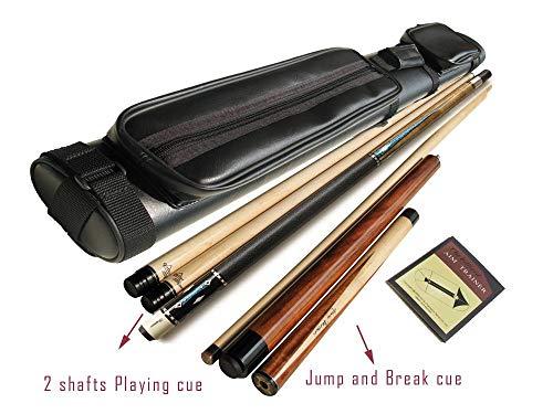 Gator Champion Inlaid Custom Billiard SC-7 Pool Cue Stick, Hybrid Shaft, Uni-loc Joint, Black Case, 19 oz