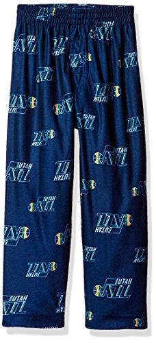 NBA  Toddler Jazz Sleepwear All Over Print Pant, 4T, Dark Navy