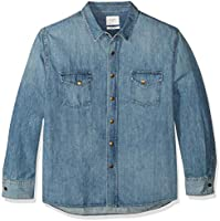 Billy Reid Men's Denim Brass Snap Work Shirt