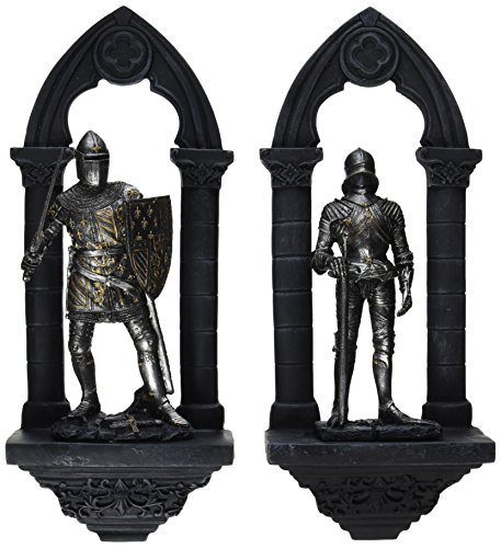 Design Toscano Knights of the Realm 3-Dimensional Wall Sculpture Set