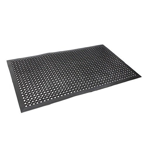 Black Indoor Commercial Industrial Durable Anti-Fatigue Floor Mat 36'' x 60'' by Unknown (Image #4)