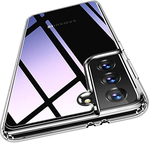 "Humixx Crystal Clear Designed for Samsung Galaxy S21 Plus + 5G Case 6.7"" [Non-Yellowing ][5.0 Military Grade Shockproof ] Slim Fit Hard PC + Soft Silicone TPU Bumper with Airbag Protective Cover 2021"