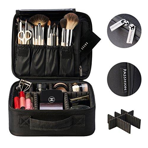 PASSHION Portable Travel Makeup Bag Makeup Train Case Mini Makeup Train Case 10.2