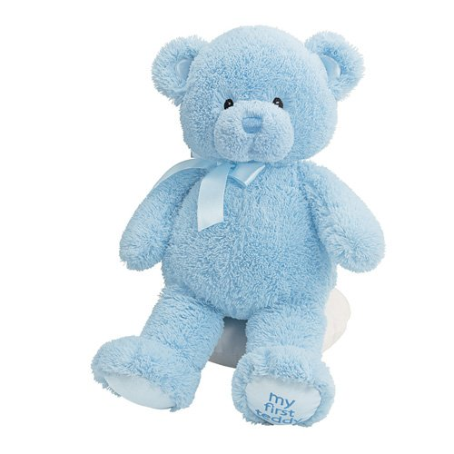 Blue Stuffed Bear - Baby GUND My First Teddy Bear Stuffed Animal Plush, Blue, 15