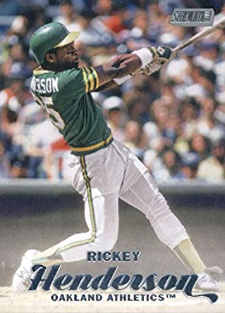 size 40 0b4be 861b7 2017 Topps Stadium Club #88 Rickey Henderson Oakland ...
