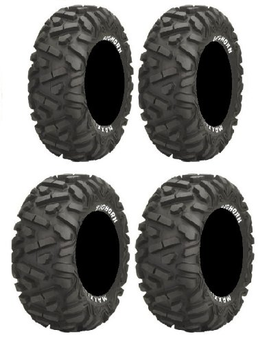 Full set of Maxxis BigHorn Radial 27x9-12 and 27x12-12 ATV Tires ()