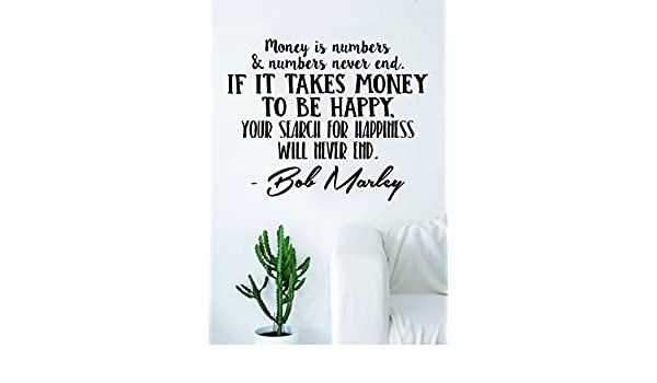 Amazoncom Bob Marley Money Is Numbers Decal Quote Sticker Wall