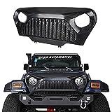 Automotive : Opar Jeep Wrangler TJ Front Gladiator Grille Cover Vader Grill w/ Mesh Inserts in Matte Black for 1997-2006 Wrangler & Wrangler Unlimited
