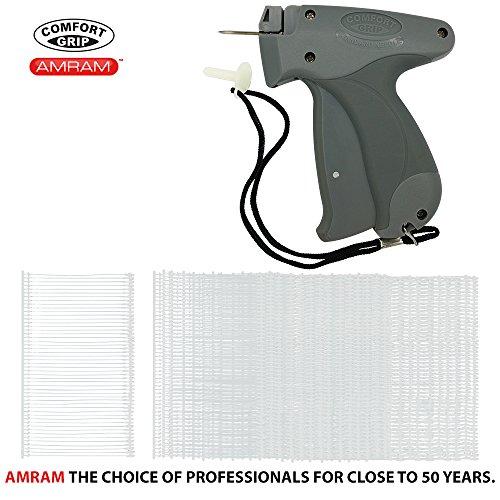 Amram Comfort Grip Standard Tagging Gun Kit. Includes 5000 2 Attachments & 1 Needle.