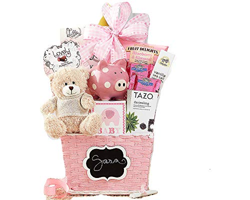 - Oh Baby Pink Baby Girl Gift Basket