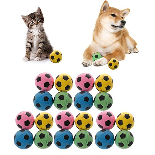 (Abicial 20PCS Non-Noise Cat EVA Ball Soft Foam Soccer Play Balls for Cat Scratching Toy)