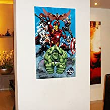 Fange DIY Removable Marvel Comics The Avengers wall stickers Vinyl Waterproof Wall Stickers Living Room Decor Bedroom Decal Sticker 38.9''x23.2''