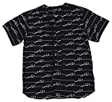 Diamond Supply Co Men's Arabic Baseball Jersey Large Black