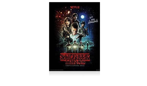 Cartel de Stranger Things firmado por Millie Bobby Brown: Amazon.es: Hogar