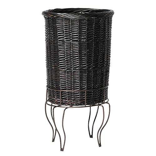 Mobile Merchandisers Antique Bronze Wire Wicker Pedestal Basket Set - 18