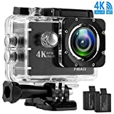 4K Sport Action Camera FMAIS Ultra HD 16MP DV Camcorder WiFi 30M Waterproof 2.0 Inch LCD Screen 170 Degree Wide View Angle with 28 Accessories Kits(Included 2 Rechargeable Batteries 900mAh) Review