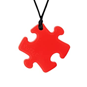 Chew Pendant Chewelry Training and Development Fidget Toy Chew Necklace for Teething Babies,Sensory,Oral Motor Autism Anxiety