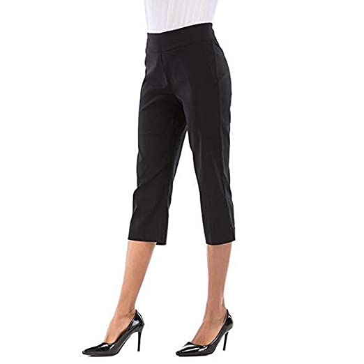 a28f6a2214a5 💓Women's High Waist Straight Leg Pant Ladies Solid Casual Skinny ...