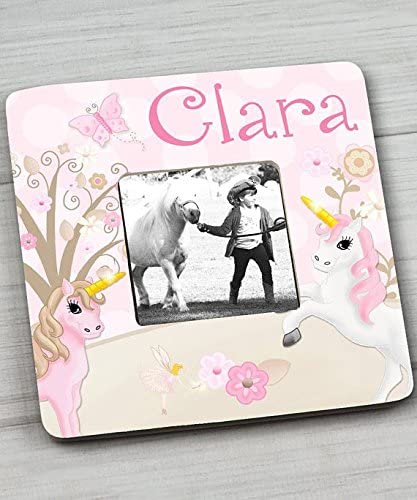 7.5 x 7.5 Pink Unicorn Girls Bedroom Photo PICTURE FRAME for Kids Bedroom Baby Nursery PF0098