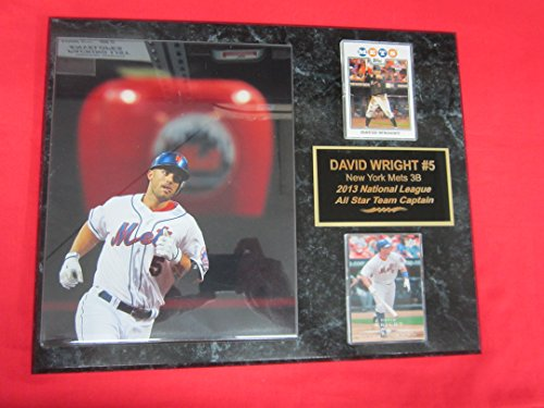 Piazza Apple - Mets David Wright 2 Card Collector Plaque #5 w/8x10 Photo BIG APPLE in backgroud