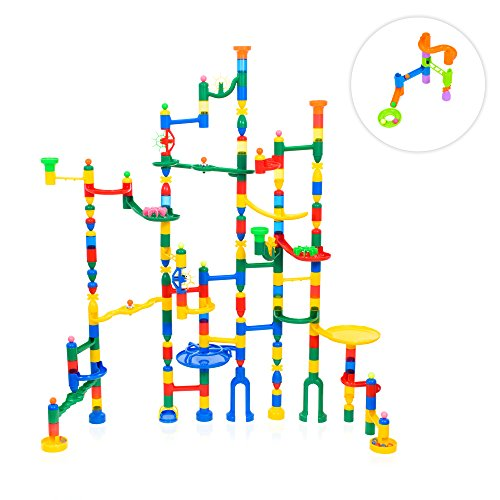 Marble Labyrinth - MagicJourney Giant Marble Run Toy Track Super Set Game 230 Piece Marble Maze Building Sets w/ 200 Colorful Marble Tracks, 30 Marbles & 4 Challenge Levels for STEM Learning, Endless Educational Fun