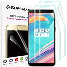 [Newest Edition] OnePlus 5T Screen Protector, SUPTMAX OnePlus 5T Screen Protector [Maximum Coverage] [Case Friendly] Flexible TPU Film Cover for OnePlus 5T (OnePlus 5T, 2 Pack)