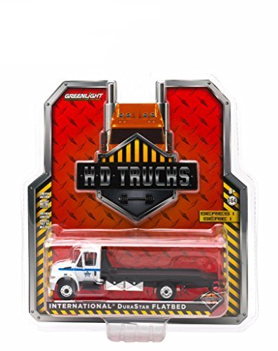 2013 International Durastar 4400 Chicago Police Department Flatbed Tow Truck 1/64 by Greenlight 33010B (Flatbed Truck Tow)