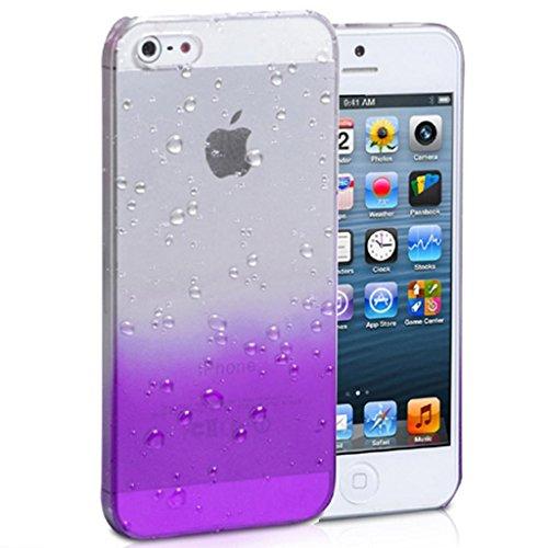 Mobile Case Mate iPhone 4 4s Coque couverture Case Cover clair and violette Goutte de pluie Goutte d'eau avec Stylet