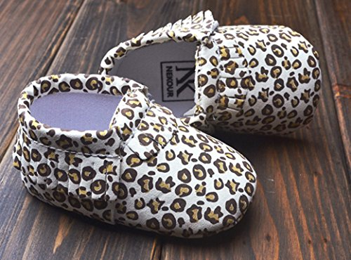 HAPPY CHERRY Suaves Zapatos Primeros Pasos Zapatitos sin Cordones Suela Antideslizante Mocasines para Bebés Niños Niñas 0-6 Meses Color Leopardo: Amazon.es: ...