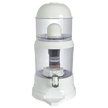 NutriChef - Dispensador de filtro de agua de encimera, 4 galones, sin BPA,