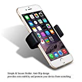 Car Mount Phone Holder, Mpow 360 Degree Swivel Premium E-Clip Air Vent Magnetic Car Mount Holder Mobile Phone Holder Car Cradle One Step Mounting for iPhone 6S/6s Plus/6/6 Plus/5S/5C/SE,Galaxy S5/ S6/ S6 Edge/S8 /SE Edge and Other Smart Phone Bild 5