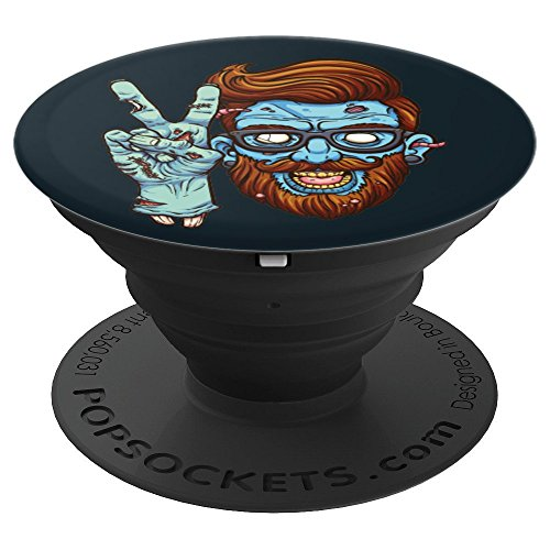 Zombie Hipster Inspired Peace Sign Halloween Teen Gift - PopSockets Grip and Stand for Phones and Tablets