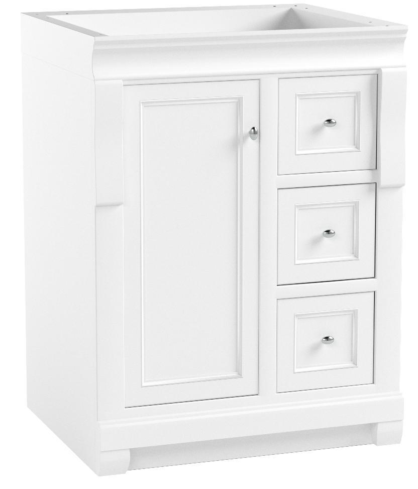 Foremost Nawa2418d Naples 24 W X 18 D X 34 H Vanity Cabinet White Bathroom Vanities Amazon Com