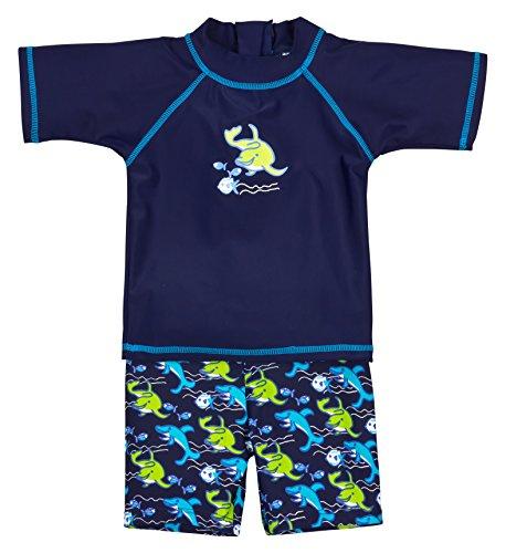 Landora®: Badkleding voor baby's en peuters, set van 2 met uv-bescherming 50+ en Oeko-Tex 100-certificering in blauw of…