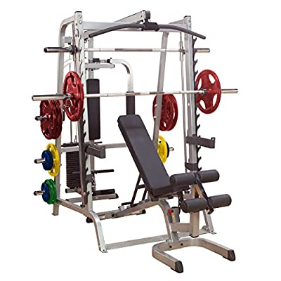 Body-Solid #GS348QP4 New Series 7 Smith Complete Gym Package with Weight Set